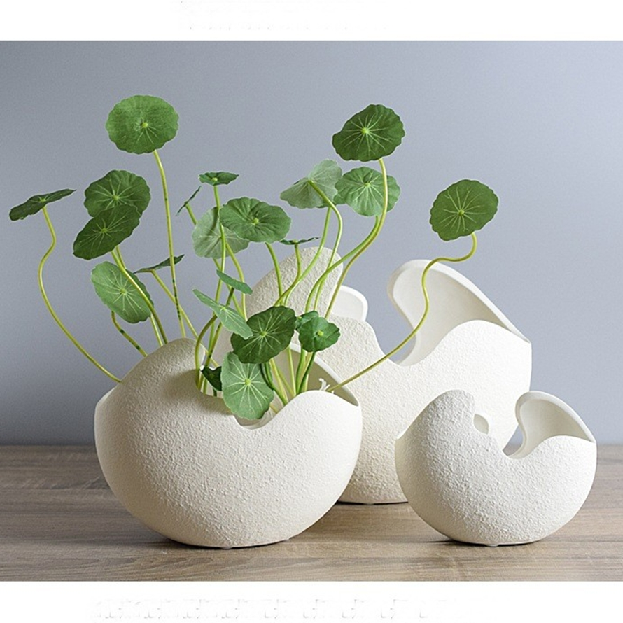 online buy wholesale modern vase and gift from china modern vase  - l type modern creative white eggshell handmade ceramic vase flowerornaments hydroponics for home decoration