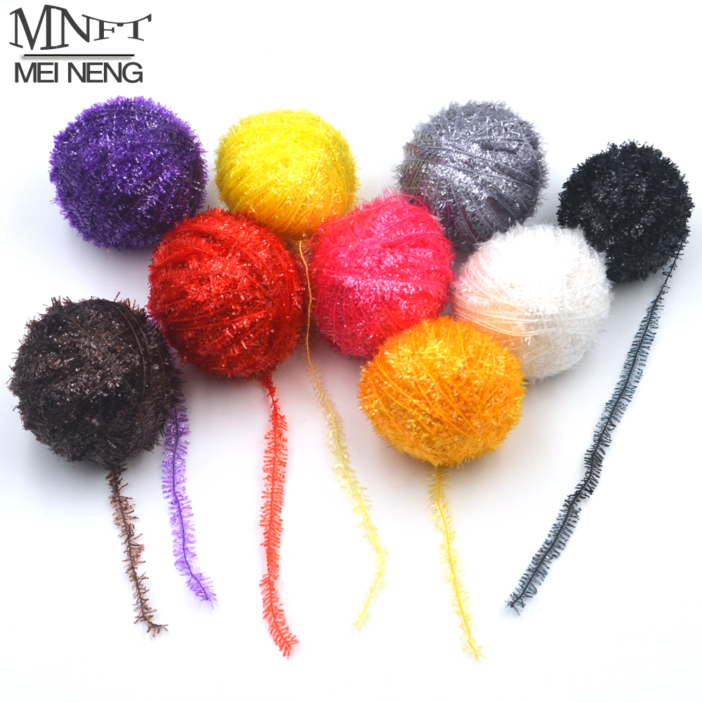 MNFT 9 Colors 450m/Lot Assortment Tinsel Chenille Crystal Flash Set for Fly Tying DIY, Flies Flying Fishing Material Wholesale