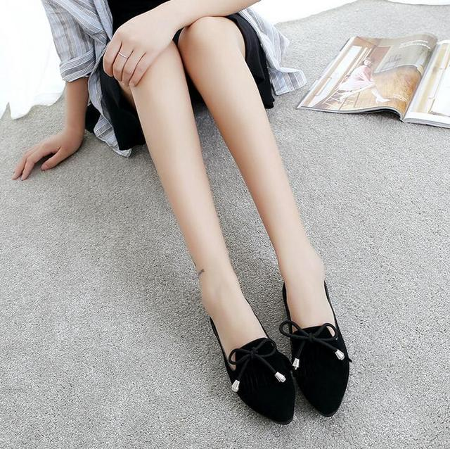 EFFGT New Fashion Bowknot Pointed Toe Women Shoes