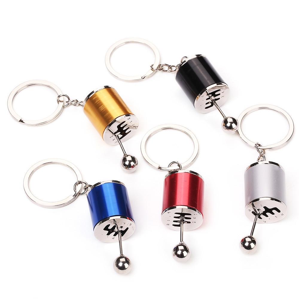 Innovative Metal Gear Key Chain Car Modification Automobile Shift Lever Charm Gift Ornament Accessories 3pcs lot