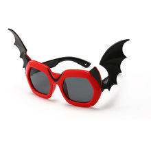 a95199cb97f Kids Cartoon Sunglasses Boys and girls Polarized Little Devil Retro Eyeglasses  TR90 Safety Frame With Wing Glasses Children Shad