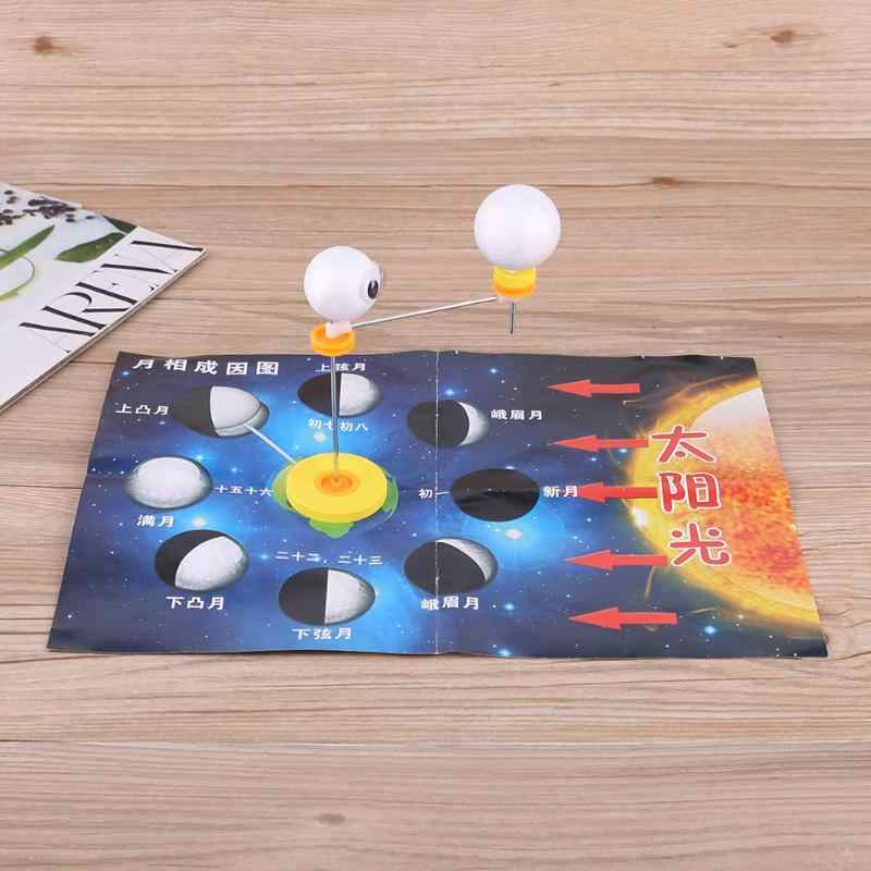Kids DIY Moon Phase Cause Astronomy Toy Science Experiment Training School  Intellectual Toys Learning Education Science toys