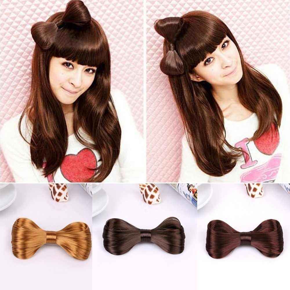 Девичья прическа головы носить свадебные волосы Новая мода женщин Harajuku большой бант из волос аксессуары для волос