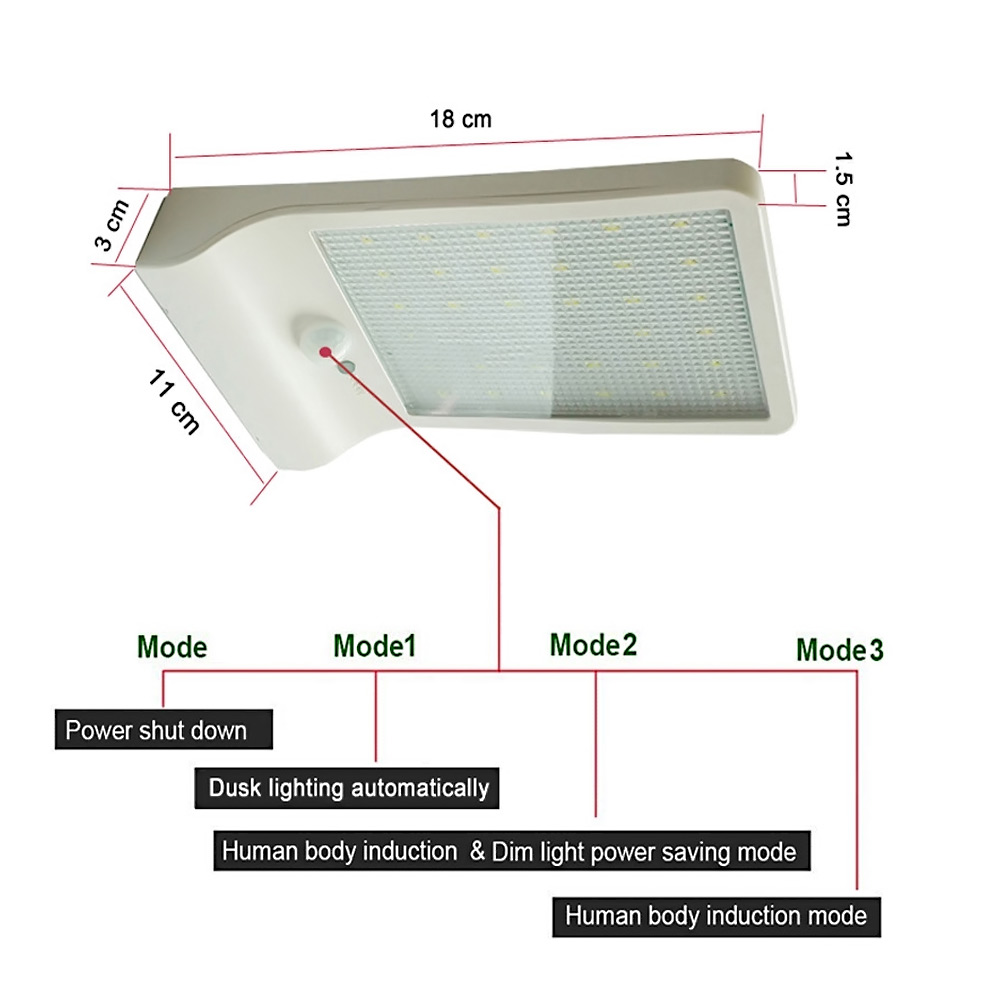 Newest 450lm 36 Led Solar Power Street Light Pir Motion Sensor Powered Lights Wiring Diagram Automatic Circuit Garden Security Lamp Outdoor Waterproof Wall In Lamps From