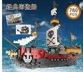 Алмаз Пиратский Корабль Строительные Блоки Модель Комплекты 780 ШТ. Сборка Unisex Пластиковые Пиратский Катер Кирпичи Блоки Образовательные Игрушки