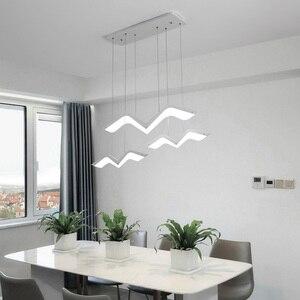 Image 4 - Martı modelleme Modern LED kolye ışıkları oturma odası yemek odası için mutfak ev asılı dekor süspansiyon aydınlatma armatürleri