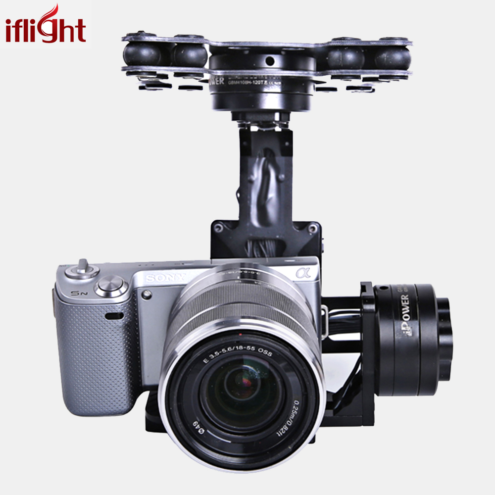 iFlight RTF G40 3-Axles Aerial Gimbal with 32 bit AlexMos controller for Sony NEX5 RX-100 BMPCC FPV Aerial Photography