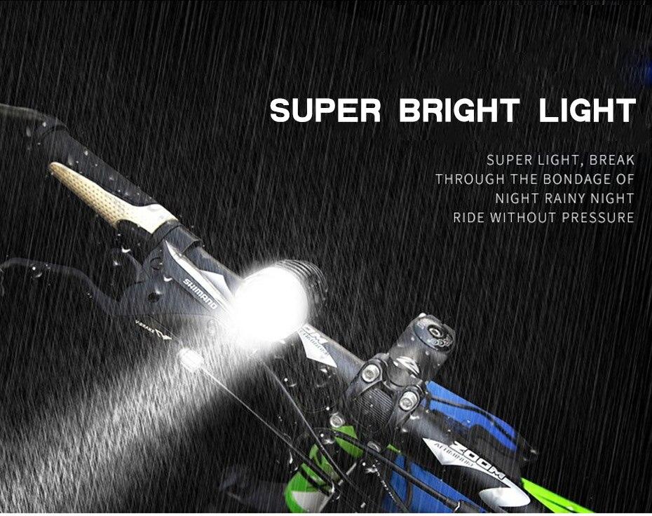 Daibot LED Lights For Bicycle LED Headlight On Rower Lantern For A Bike LED Flashlight For
