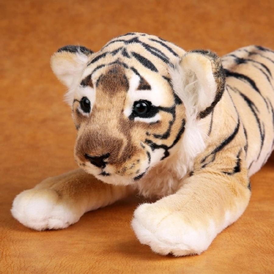 Handmade stuffed toy 16.9 in high Tiger plush