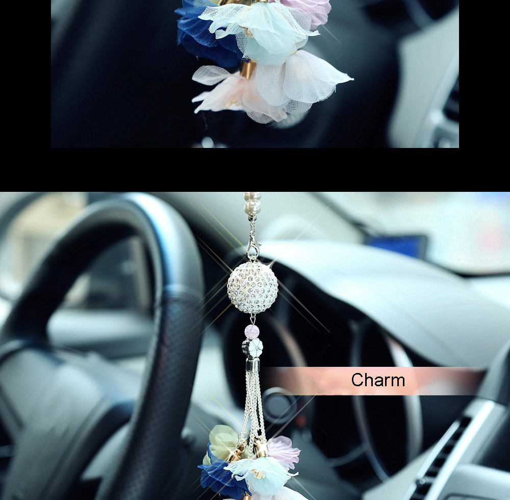 Автомобильный кулон с алмазным хрустальным шаром, автомобильное украшение, шарм, авто интерьер, зеркало заднего вида, подвеска, висячий орнамент, подарки