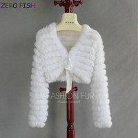 real rabbit fur vest shawl wraps fur coat woman wedding poncho Tippet