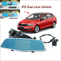 "For skoda rapid Car DVR Rearview Mirror Video Recorder FHD 1080P Dual Camera Novatek 96655 5"" IPS Screen Car Parking DVR"