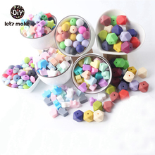 Silicone Beads BPA Free 30pc Silicone Teether Beads 14mm Baby Teething Jewelry M