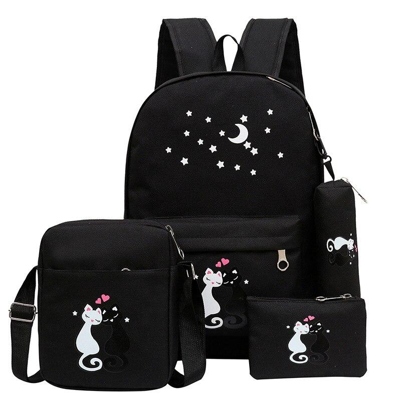 adolescente unisex coreano mochila menina Tipo de Estampa : Animal