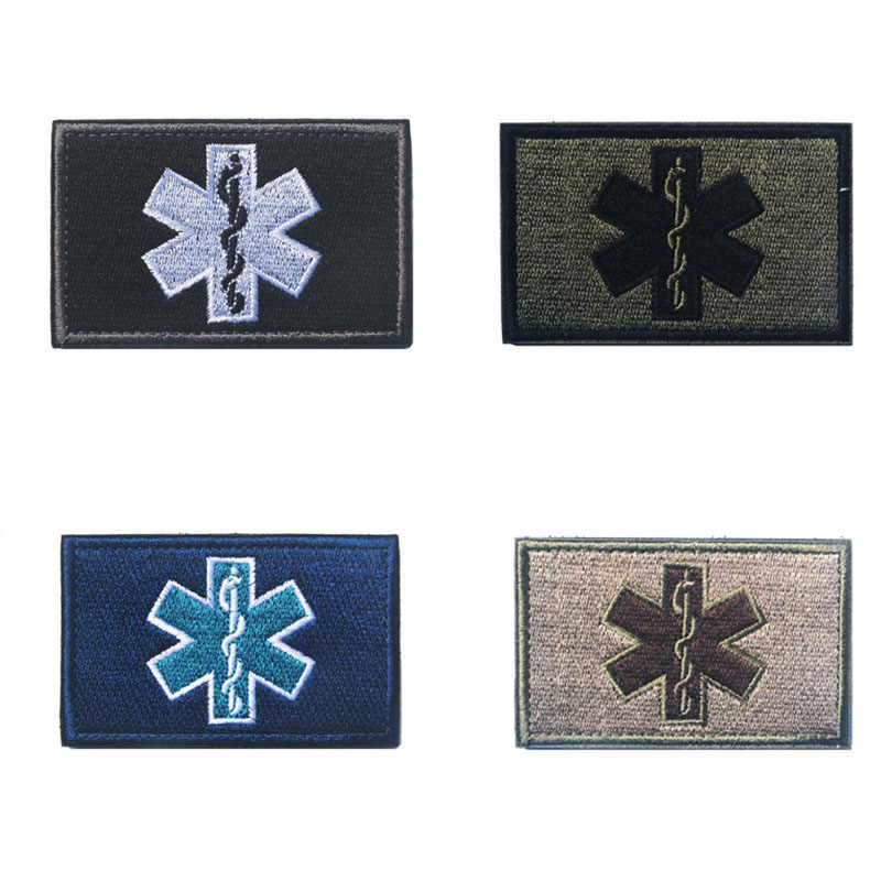 Emergency Embroidery Patch Workwear Medical Technician Medical Staff Embroidery Patch Military Uniform Tactical Bandage Hook(China)