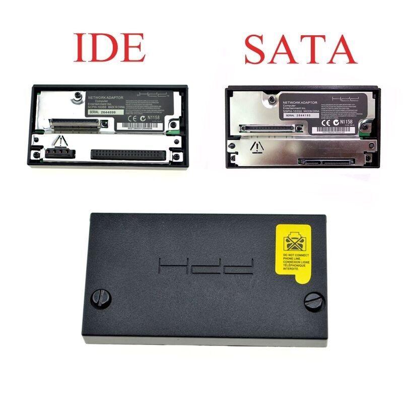 SATA Adaptador HDD de red para PS2 Fat Console Socket Adaptador IDE SCPH-10350 Para Sony Playstation 2 Adaptador de grasa Juegos Accesorios