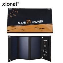 Xionelデュアルusbソーラー充電器、powerportソーラーiphone 7/6s/プラス、サムスンギャラクシーS7/S6/エッジ/プラス、注 5