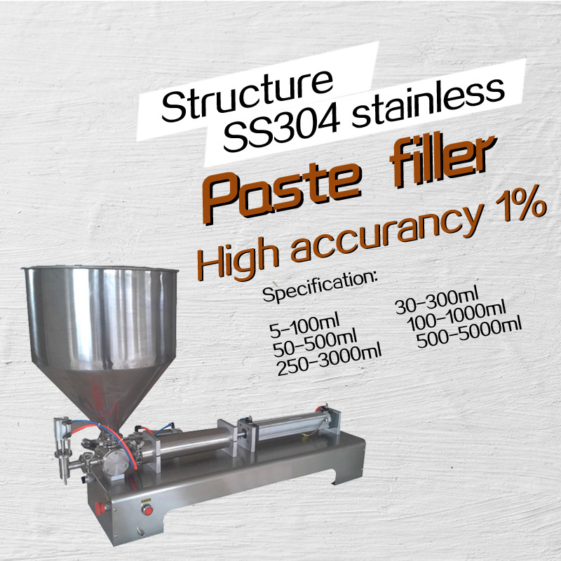 G1 stainless steel horizontal pneumatic paste automatic filling machine,high viscosity paste filling machine 110V 220V 5-100ml pneumatic soldering paste filling machine semi auto