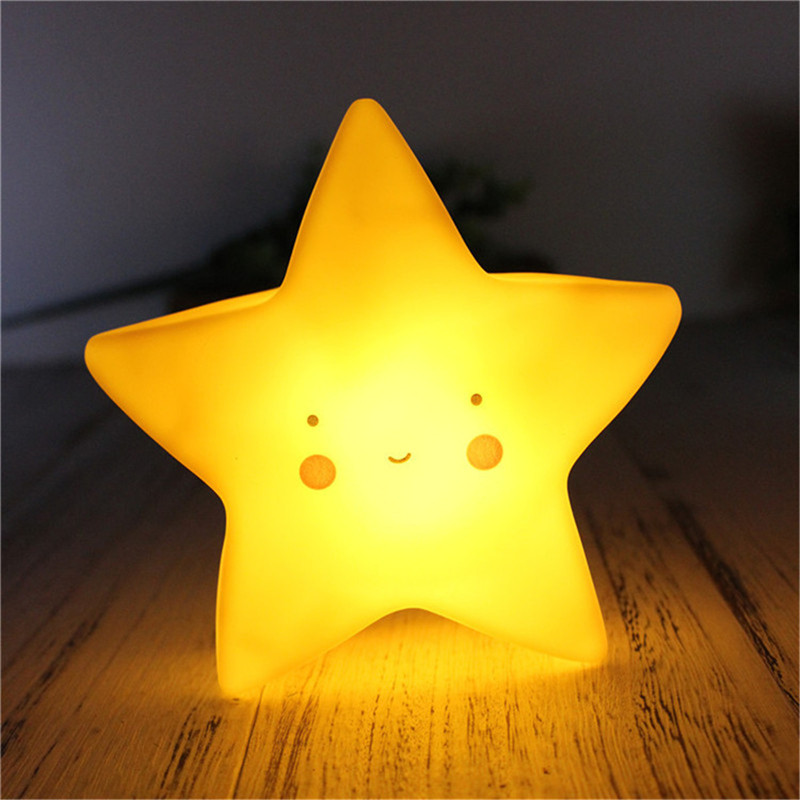2018 Creative Sun/Unicorn/Dinosaur/Star led night light Baby Bedroom Decor Lamps Star Sleeping Lighting Children Gifts Toys