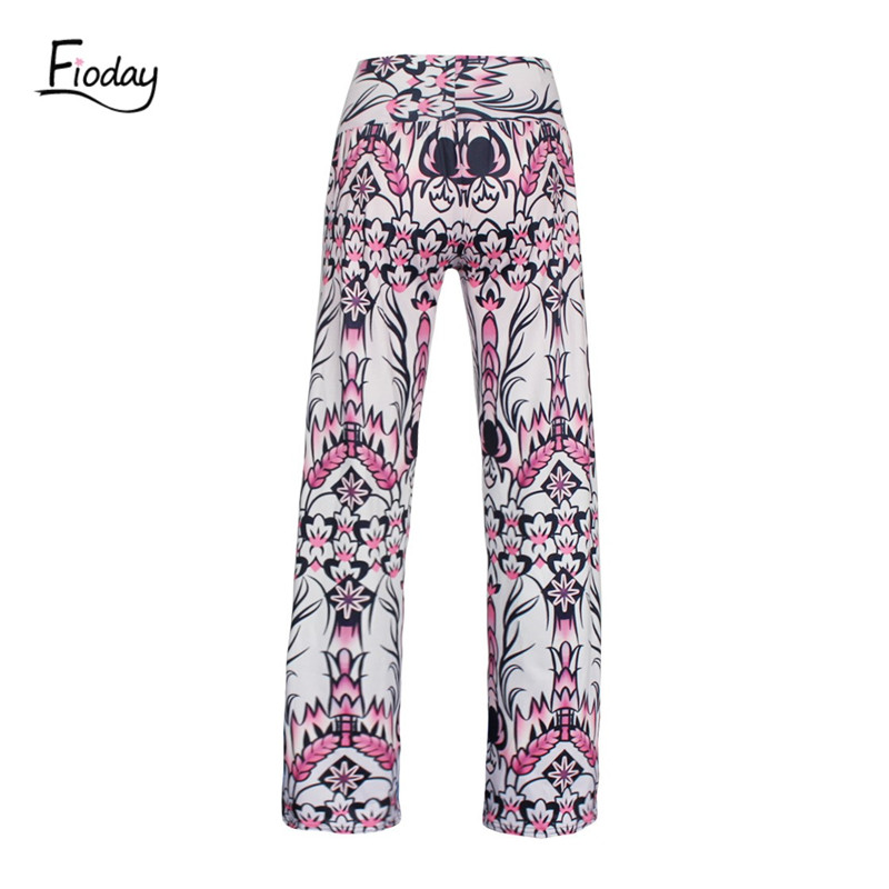 Fioday Print Wide Leg   Pants   Women Summer Beach Loose Trousers Chic Streetwear Casual   Pants     Capris   Female
