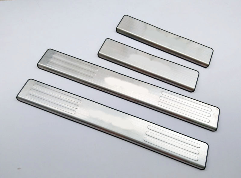 Car Styling Door Sill Strip For Mazda BT 50 bt50 2012 Scuff Plates Stainless Steel Welcome