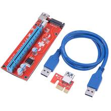 PCI-E Extender Riser Card PCI Express 1X à 16X releveur carte avec câble USB 3.0 pour BTC Miner(China)