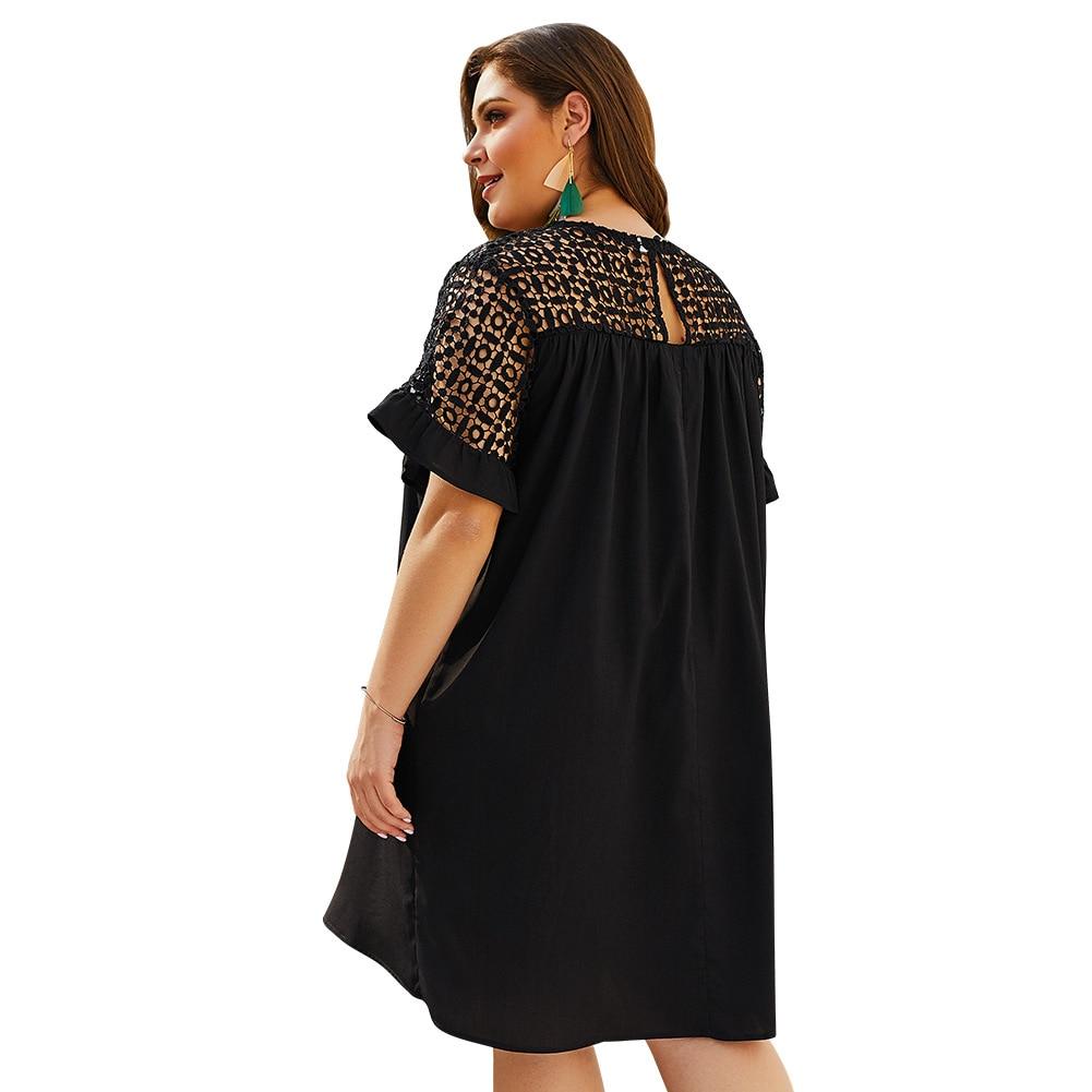 Lossky Celebrity Black Jurk Sexy O Neck Plus Size 3XL 4XL Dress Women Vestido Casual Evening Party Elegant Patchwork Femme Dress in Dresses from Women 39 s Clothing