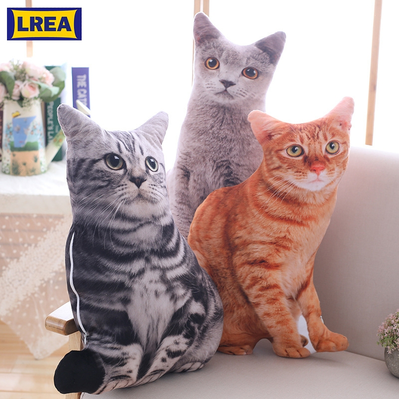 LREA New 50CM Creative Plush Toy Cute Expression Simulation Cat Pillow Bedroom Sofa Decorations Cushion-in Cushion from Home & Garden on Aliexpress.com   Alibaba Group