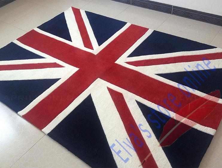 UK England British Fag Carpet Cartoon Handmade Living Room Parlor Bedroom Dining Hallway Doorway Bathroom