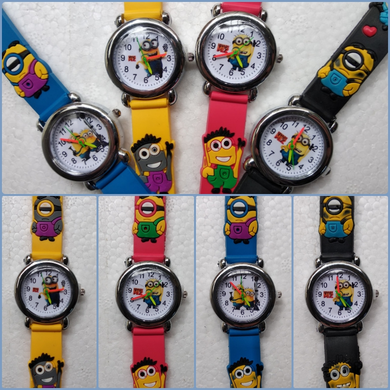 Fashion Mickey Children Watch For Kid Boys Girls Primary And Secondary School Students Clock Soft Silicone Digital Kids Watches