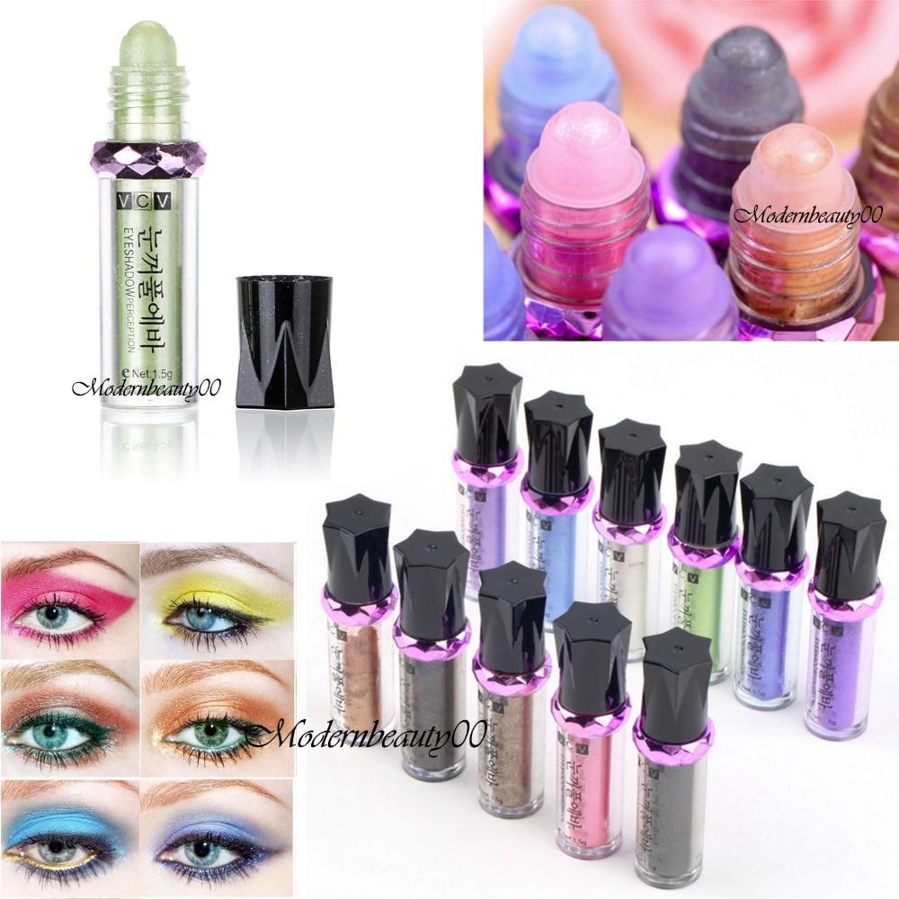 Hot Single Roller Color Eyeshadow Glitter Pigment Loose Powder Eye Shadow Makeup