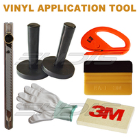 Car Wrapping Tools Kit Sets Safety Snitty Cutter 3M Squeegee Soft Woolen Squeegee Vinyl Film Wrapping