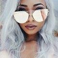 Cateye Розовое Золото Солнцезащитные Очки Женщины 2016 Италия женщины Люксовый Бренд Солнцезащитных Очков Оригинальный Уникальный Тень Солнцезащитные Очки Lunette Femme