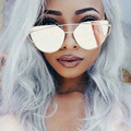 Cateye Rose Gold Sunglasses Women 2016 Italy women Luxury Brand Sunglasses Original Unique Shadow Sun Glasses Lunette Femme