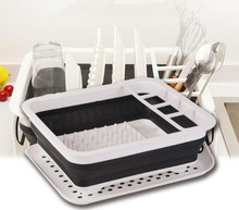 1PC Kitchen Drain Storage Racks Multifunction Vegetable Fruit Basket Tableware Bowl Dish Shelf OK 0704