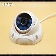 Новый Дом Безопасности CCTV ИК Ночь Купольная Аналоговые Камеры Крытый 1200TVL с 6 шт. Белый ИК-Светодиодов 3.6 мм Лен