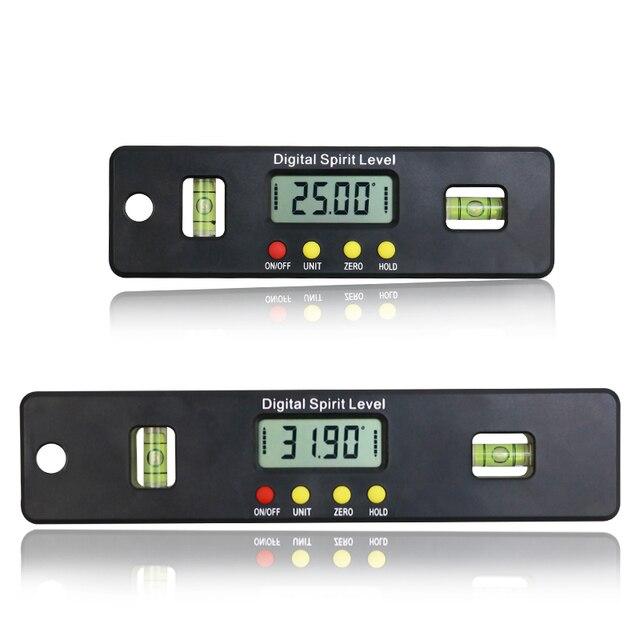 Caja de nivel Digital de 100/150/200mm medidor de ángulo electrónico buscador del ángulo del transportador Indicador de biselado con Base magnética
