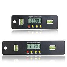 Medidor de ângulo eletrônico digital, medidor de ângulo transferidor, barba com base magnética, 100/150/200mm