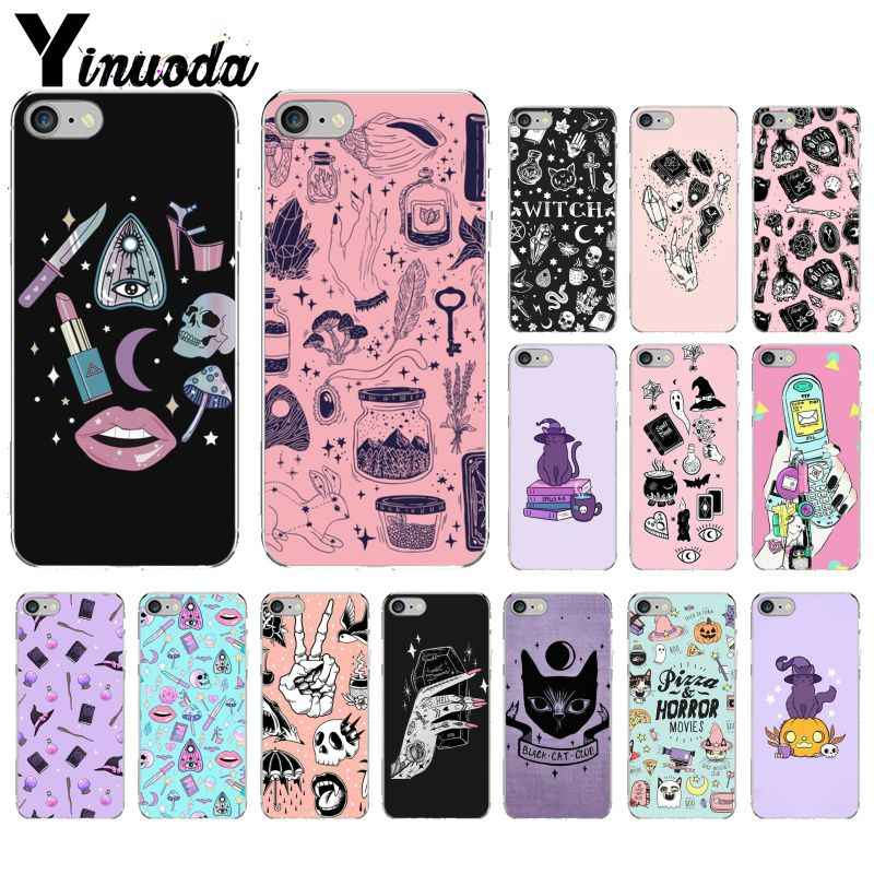Yinuoda Girly Pastel Heks Goth Tpu Zachte Siliconen Phone Case Cover Voor Apple Iphone 8 7 6 6S Plus X Xs Max 5 5S Se Xr Cover