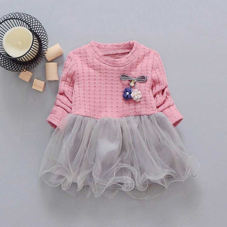 new-spring-Autumn-Casual-baby-princess-Long-Sleeve-Kids-Sweet-Knit-top-mesh-patchwork-infant-Children-girls-Dress-Y2059-1