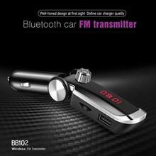 New Handsfree Bluetooth Car Kit 2 USB Charger Wireless FM Transmitter Auto MP3 Music Player Modulator Speakerphone 34