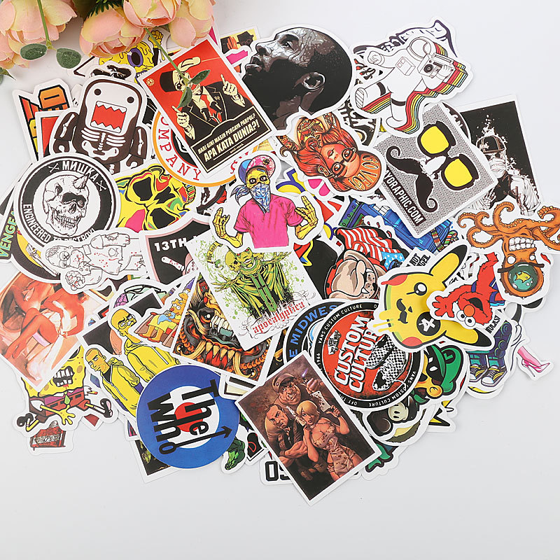 50 pcs Mixed Cartoon Cute Toy Stickers for Car Styling Bike Motorcycle Phone Laptop Travel Luggage Cool Funny Sticker Bomb Decal(China)