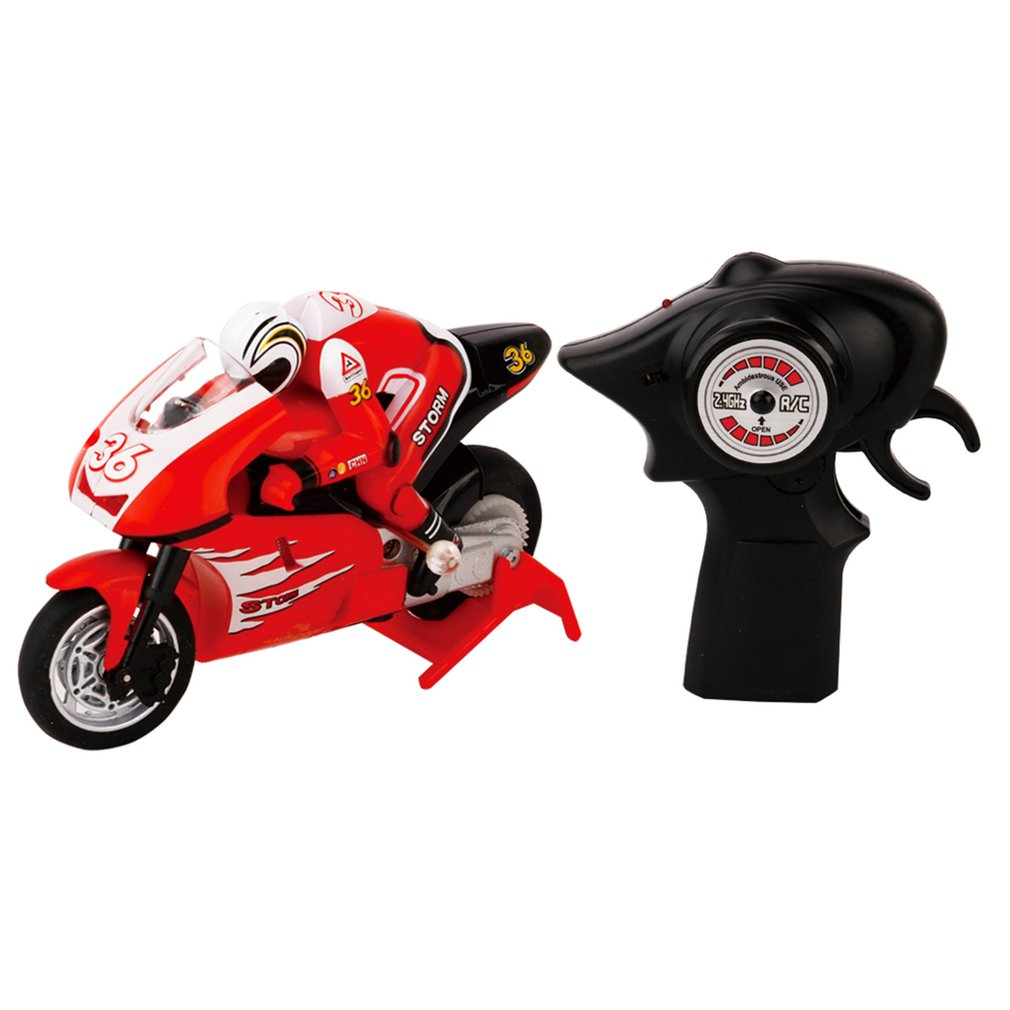 RC Motorcycle 8012 1/20 <font><b>Scale</b></font> RC Motorcycle 4 Channel Remote Control Motorcycle 2 <font><b>Wheels</b></font> High Speed 2.4GHz RC Motorcycle Motor image