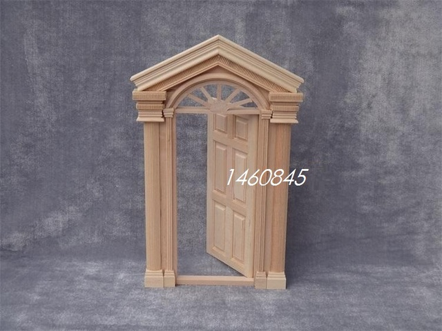 1 12 Dollhouse Miniature Furniture Mini Wooden Doors And Windows