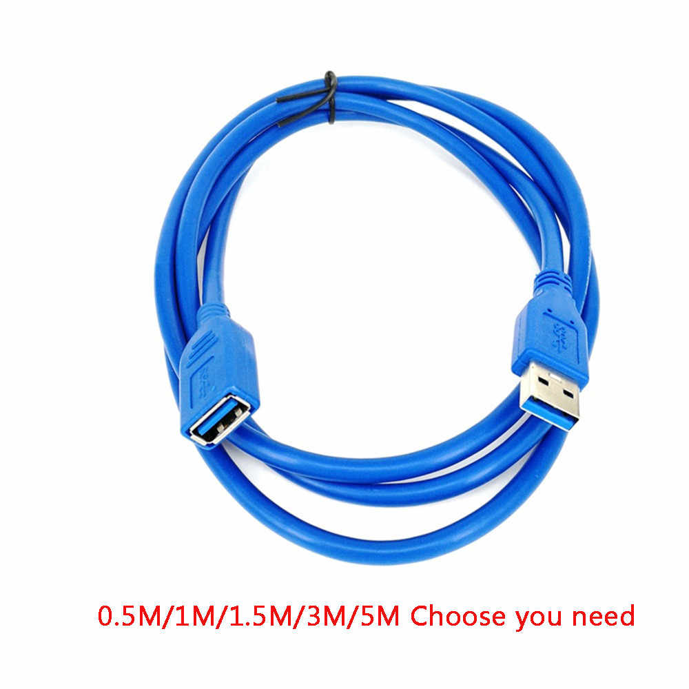 USB Extension Cable 0.5/1/1.5/3/5M USB 3.0 Male to Female durable Extension Data Sync Cord Cable 5Gbps #12