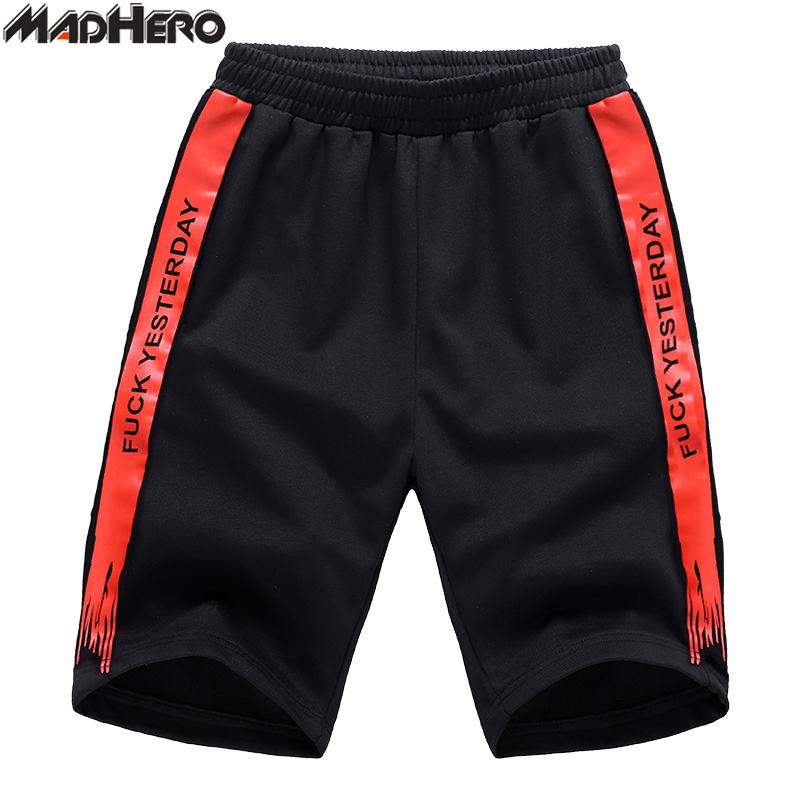 MADHERO Shorts Men Contrast Paint Print Shorts With Pockets Plus Size M-4XL Cool Elastic Waist Short Pants Summer Young Man New