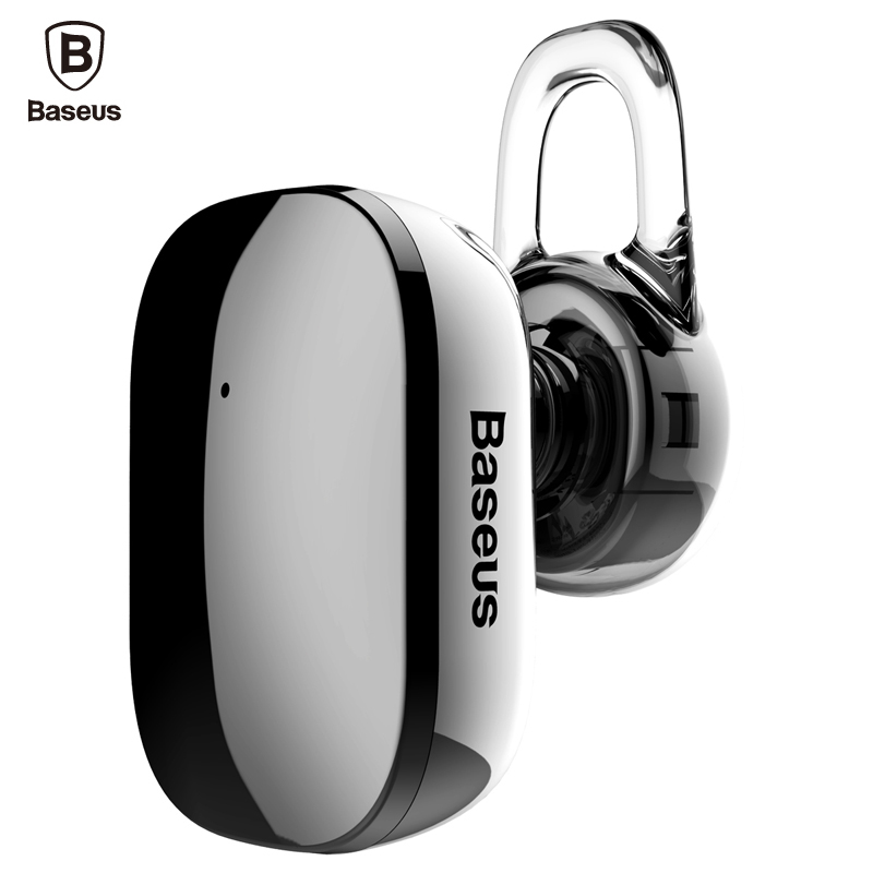 Baseus Mini Wireless Bluetooth Earphone Hands-free Wireless Bluetooth Headset Headphone With Mic 4.1 Ear Hook Earbuds Earpieces new metal magnetic wireless bluetooth headphone sport headset hands fress hifi earphone with mic for iphone samsung phones