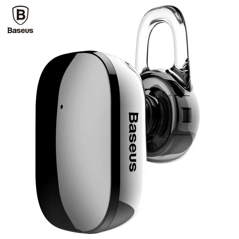 Baseus Mini bezprzewodowy zestaw słuchawkowy Bluetooth głośnomówiący bezprzewodowy zestaw słuchawkowy Bluetooth słuchawki z mikrofonem 4.1 zaczep na ucho słuchawki douszne słuchawki