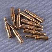 LEATOSK High Quality 10Pcs Carburetor Slow Pilot Jet Kit Gold Copper Fit for Keihin PWK OKO 32 35 38 40 42 45 48 50 52 55
