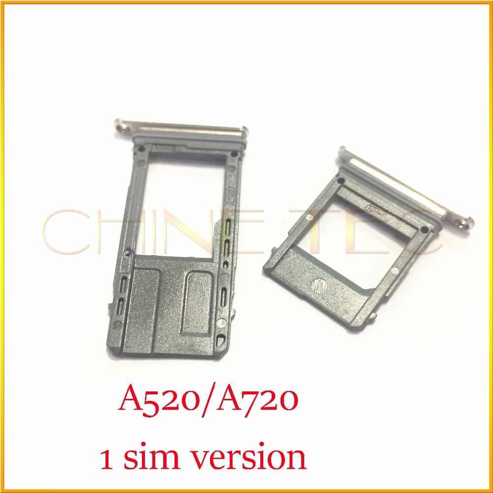 1 ชุดสำหรับ Samsung Galaxy A5 2017 A7 2017/A520F A720F Nano ซิมการ์ด micro SD ถาดใส่ถาดอะแดปเตอร์